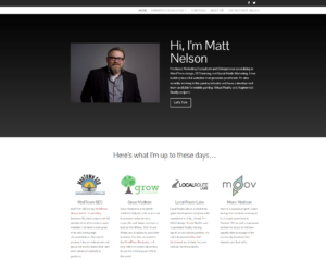 Matt Nelson Freelance WordPress Design SEO Social Media Marketing